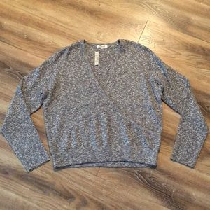 Madewell Front Wrap Sweater